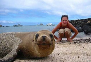 Snorkel and spend time on the beach with Galapagos seal lions