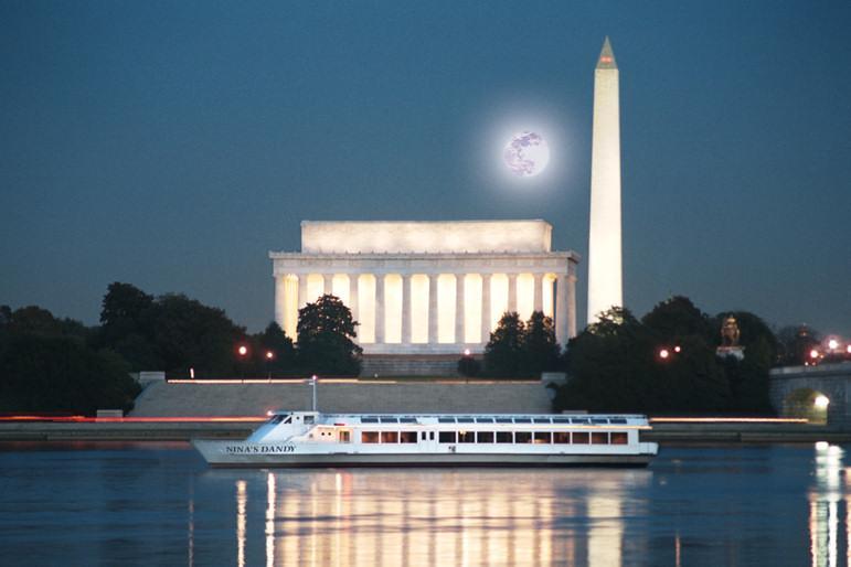 Monuments at night, Washington D.C.