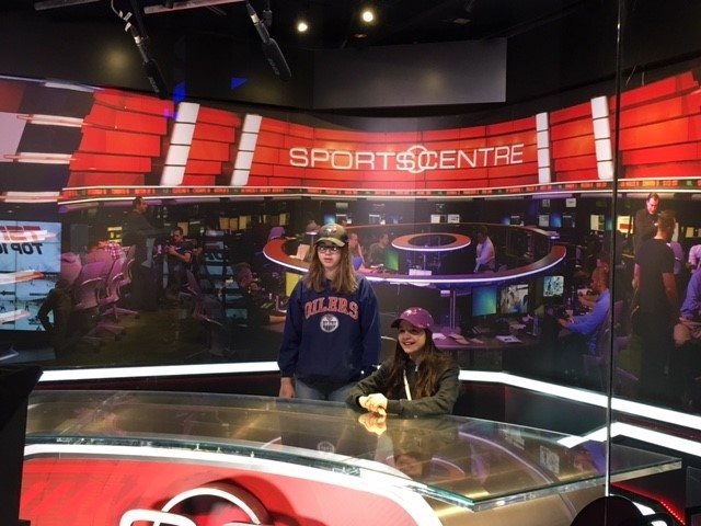 Sports Centre desk at the Hockey Hall of Fame, Toronto