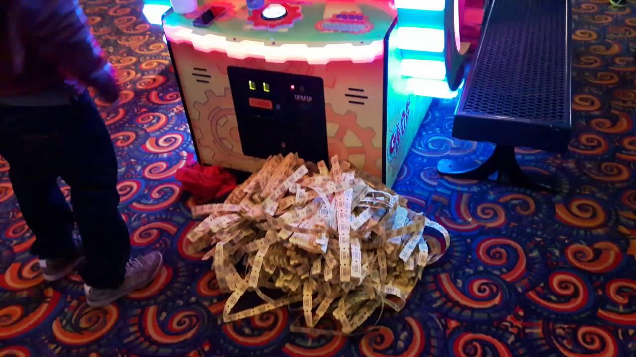 Tickets won at the arcade on Clifton Hill, Niagara Falls
