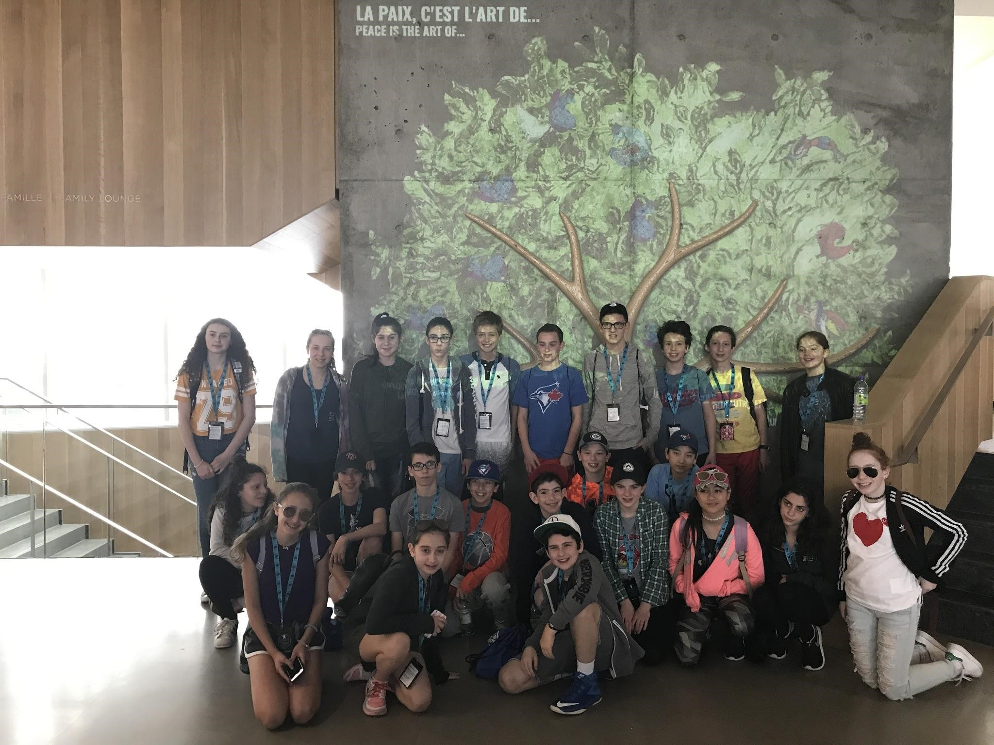 Part of this group's itinerary included a visit to the Montreal Holocaust Museum